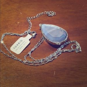 NWT torrid reversible pendant with silver chain